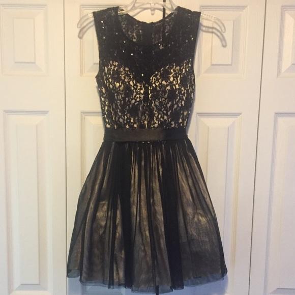 bc55b1f63 B Darlin Dresses   Lace Black Dress Sz 34 Holiday Party   Poshmark